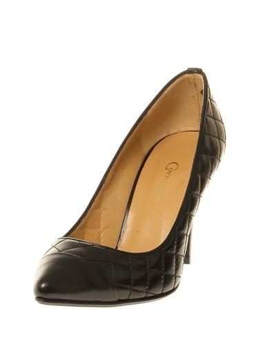 Cotton Bar Topuklu Ayakkabı Siyah